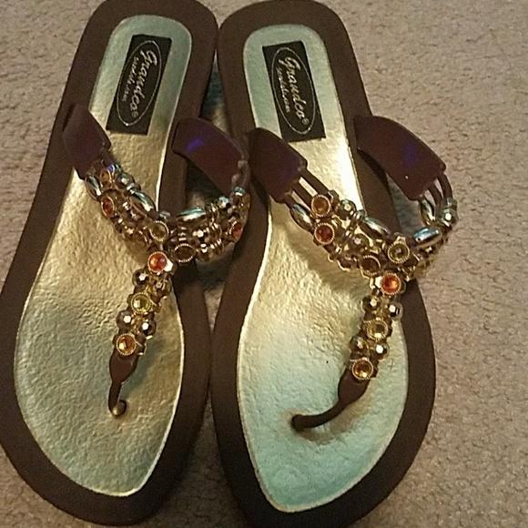ddf3441861d9 Grandco Sandals Shoes - Beaded Sandals size 7